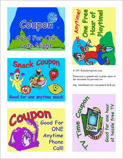 Coupon Preview - Click for Printable Gift Coupons